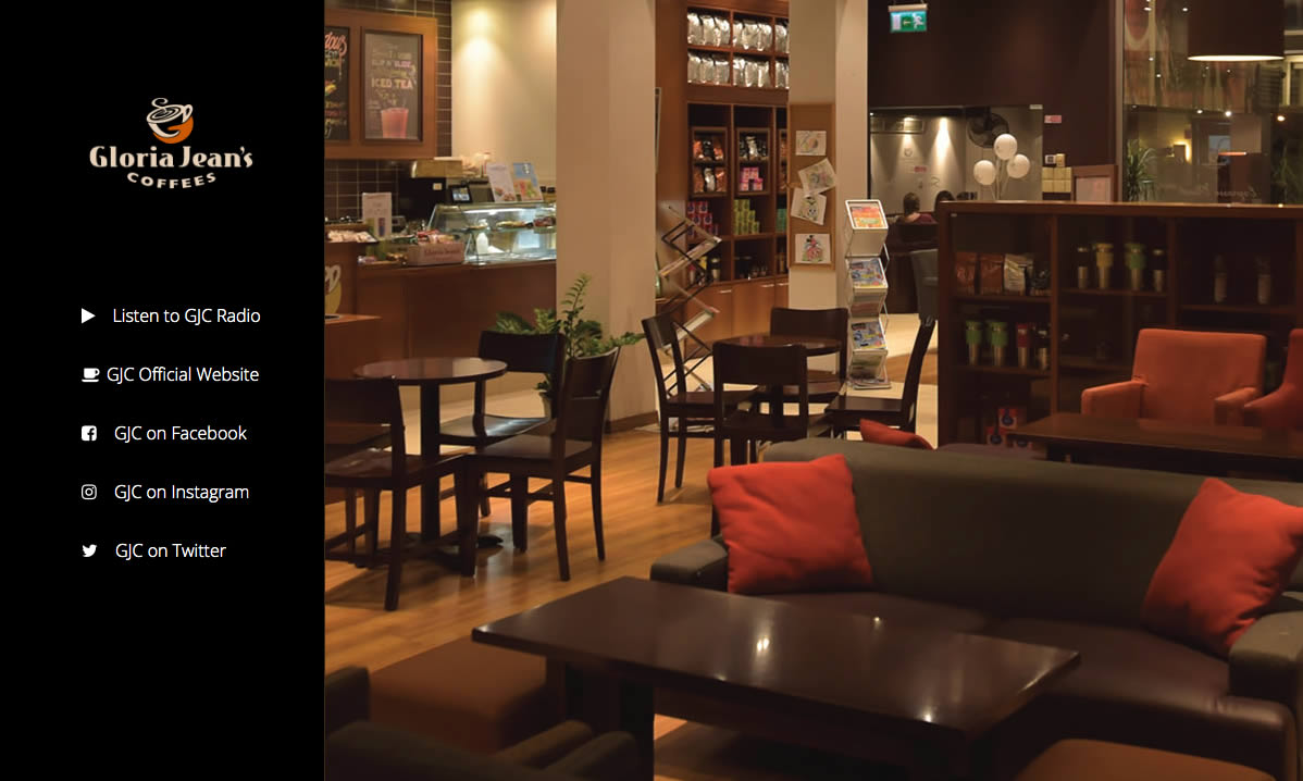 Screenshot of the Gloria Jean's Coffees Mini Platform